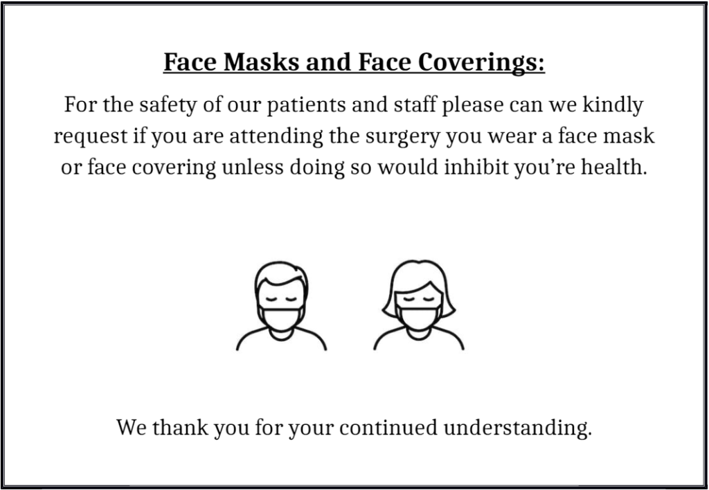 Face mask and face coverings