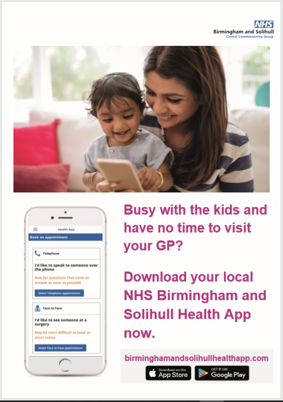 Download your local NHS Birmingham and Solihull Health app